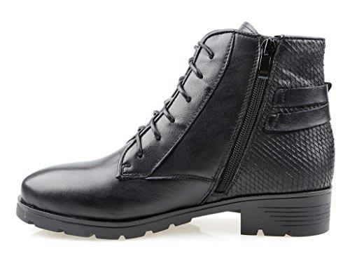 Eyekepper Chaussure fashion femme demoiselle - botte hiver chaussures fermuture a glissiere Noir
