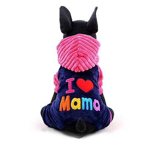 YARBAR Puppy Dog Pet inverno caldo corallo cashmere con cappuccio