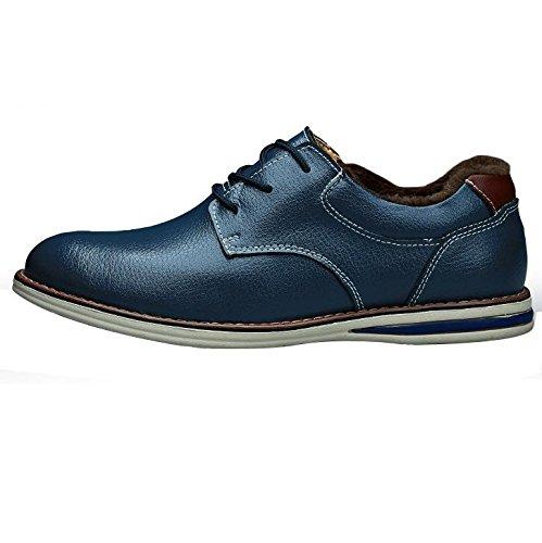 XFJ Scarpa formale da uomo intelligente per il tempo libero Scarpa formale da manuale Scarpa britannica per il tempo libero Scarpe oxford basse Scarpe da sport nere blue