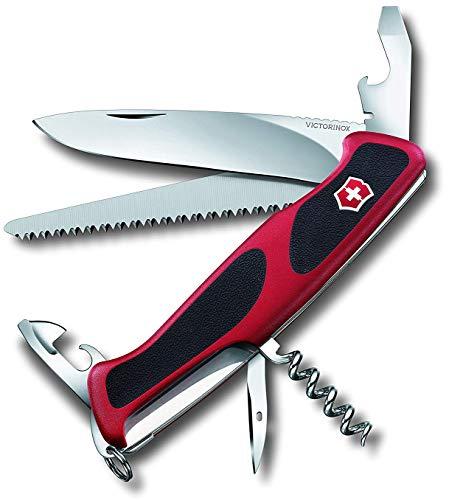 Victorinox Taschenmesser Ranger Grip 55 (12 Funktionen, Feststellklinge, Säge) rot/schwarz