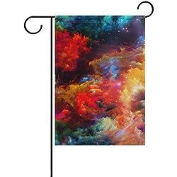 Bandera cósmica para Jardín, de poliéster 30,5 x 45,7 cm