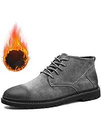 2646cca460f Zapatos De Cuero De Lujo Antideslizantes con Cordones para Hombre De  Invierno/Zapatos De Cuero Casuales Al Aire Libre Botas…
