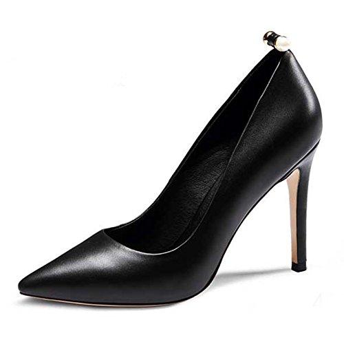 WSS chaussures à talon haut Saisons de haut talon stiletto asakuchi pointé perles en Europe et chaussures de mode gros. élégantes dames Black