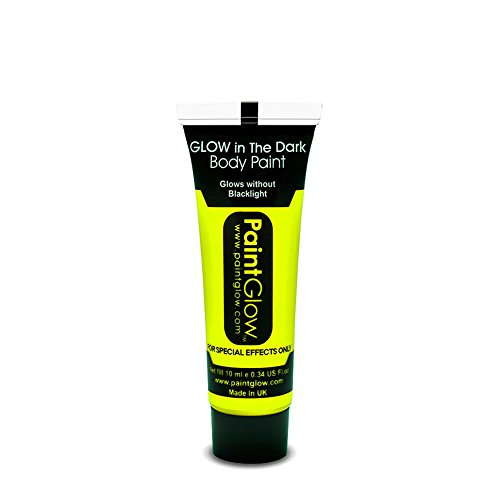 Paintglow Neon Yellow Glow in the Dark Face & Body Paint Rave Festival Party 10ml by PaintGlow