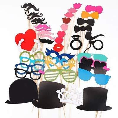 44 Stück DIY Foto Requisiten Masken Lippen Dekoration, Party Masken Foto Requisiten, lustige Maske, Fotografie, Brille Schnurrbart Foto Dekor
