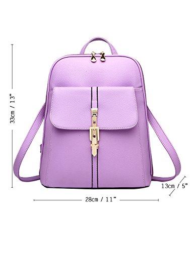 Menschwear PU Zaino Satchel Daypack sacchetto di scuola Arancione Viola