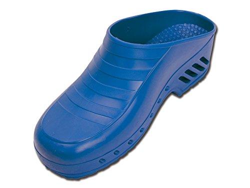 Zoccoli professionali, senza fori, taglia 40-41, blu elettrico, zoccoli sanitari, zoccoli da chef, zoccoli ospedalieri