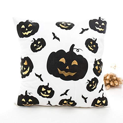 VEMOW Happy Halloween Kissen Heißer Dekoration Fashion Type Cases Polyester Kissenbezug Wohnkultur (43cmX43cm/16.9X16.9)(Mehrfarbig B, 43cmX43cm/16.9X16.9)
