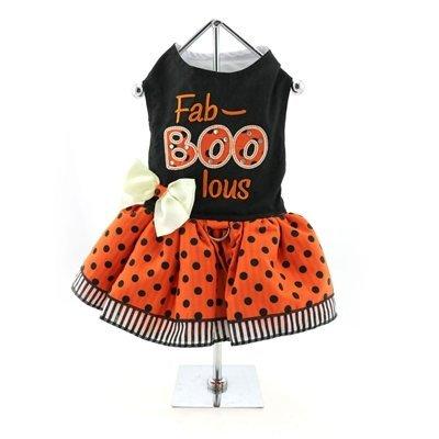 DoggieDesign Urlaub Hundegeschirr Halloween Kleid-Fab-Boo-lous, M, Orange