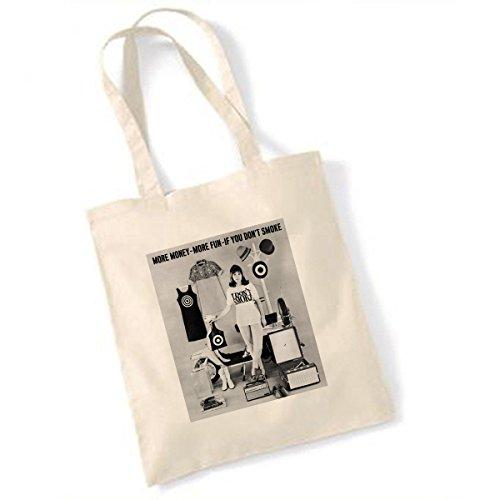 60s Mod Girl (I dont smoke (Girl) TOTE BAG)