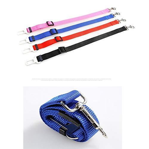 Dog Safety Belt Car Pet Sicherheitsgurte mit Besonders elastischer Dämpfung für maximalen Komfort Kleine und Mittlere Hundeleinen Retractable Dog Car Straps Heimtierbedarf Size L (Rosa)