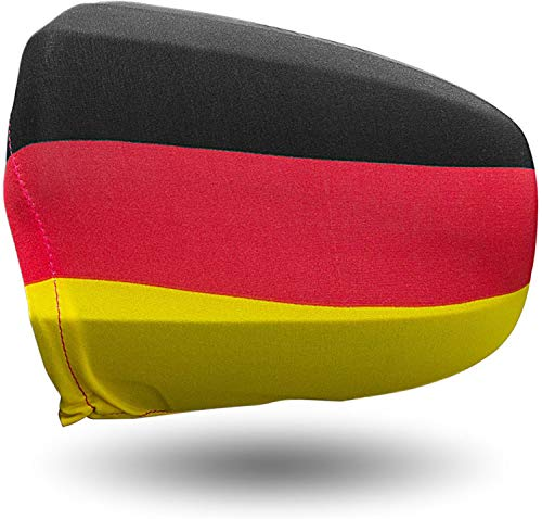 normani 1-10 Paar Spiegelfahnen WM/EM Deutschland Aussenspiegel Überzug im 2er Set - Spiegel Fahne/Autospiegel/Auto Flagge/Außenspiegel-Flagge Farbe DE - 1 Paar Größe M