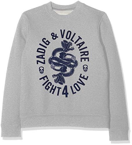 ZADIG&VOLTAIRE Sweat-Shirt Garçon, (Gris Chiné A43), 12 Ans (Taille Fabricant:12A)