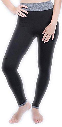 JIASHA Donne Alta Vita Fitness Yoga Sport Pantaloni Nove Punti Leggings black