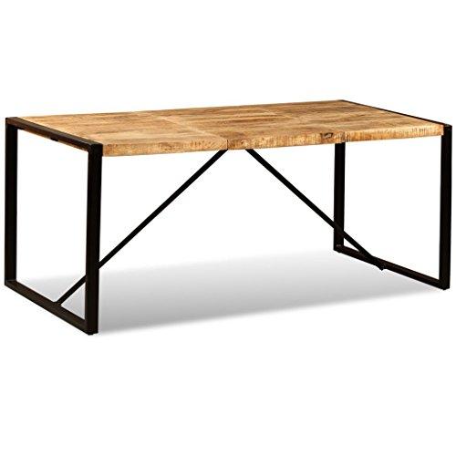 vidaXL Mesa Comedor 180 cm Madera Mango Mueble Mobiliario Cena Cocina Auxiliar