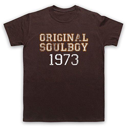 Soul Boy 1973 Northern Soul Herren T-Shirt Braun
