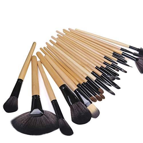 GELing 10/24-teiliges Set Make-up Pinsel Make-up Pinsel Set mit Beutel für Primer, Eyeliner, Augenbrauen, Rouge, Kontur 24 Stück Schwarz - Augenbrauen-akzent