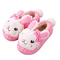 Kids Slippers Toddler Boys Girls Cartoon House Shoes Cute Rabbit Warm Shoes