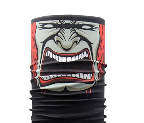 Schwarz Schädel Kostüm Maske - jemous Maske Schal Outdoor Nahtlose Multifunktions-Magic Schal Karneval Kostüm Skull Maske Schädel Maske Sturmhaube für Schwarz Clown Ski