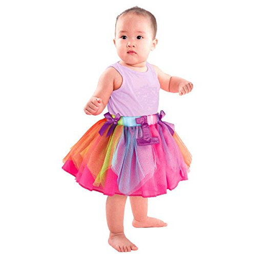 Amscan International 397344 Rainbow 1. Geburtstag Tutu -