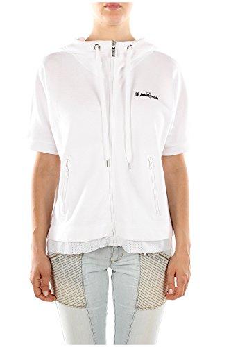 Felpe Bikkembergs Donna Cotone Bianco e Nero DW4020513800 Bianco L