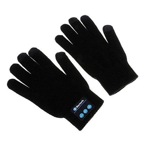 hmilydyk Unisex Wireless Bluetooth Musik Handschuhe Winter Touchscreen Knit Warmer Handschuh mit integrierter Lautsprecher & Mikrofon Entzückende Weihnachten Geschenk für Ihre Freunde und Familien, schwarz