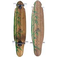 Krown Longboard Skateboard Complete Board Kicktail Exotic Bamboo Complete Longboard 43