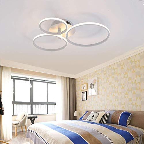 Deckenleuchte Natürlichen (W-LI Moderne Runde Deckenleuchte Led, Unterputz Kreative Kronleuchter Schlafgemach Esszimmer Esszimmer Natürliche Licht 55X55X10Cm, 50W)