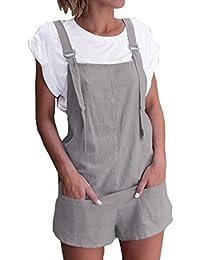 Mono Largo Mujeres ❤️JiaMeng Pijamas elásticos de la Cintura de Las Mujeres  Pantalones de algodón be9b695ad757