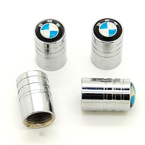Preisvergleich Produktbild 4 Stück Ventilkappen,  verchromt mit Logo – BMW