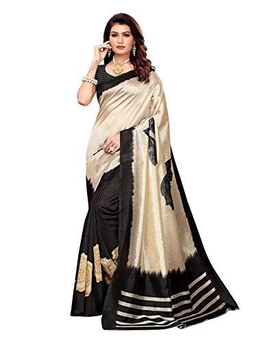 VARAYU Women's Poly Silk Printed Saree with Blouse Piece Chic Saree