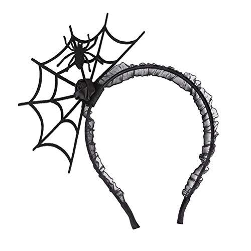 Haarreif, Spinnennetz, Spitze, Dekoration, Halloween, Haar-Zubehör für Frauen und Mädchen