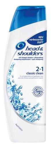 Head & Shoulders Anti-Schuppen Shampoo, Pflegespülung 2 in 1 Classic Clean, 6er Pack (6 x 250 ml)