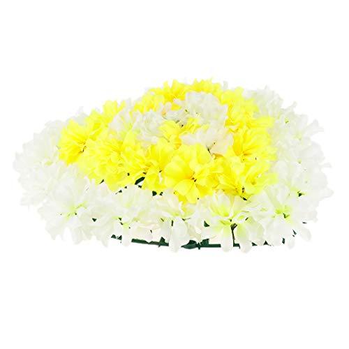 Baoblaze Herzform Chrysantheme Blumenkranz Grabdekoration Grabschmuck Grabgesteck für Trauer und Gedenken