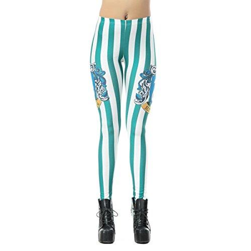Größe Super Plus 5x Kostüme (Hoch Qualität Frauen Damen Mädchen Druck Stretch Leggings Strumpfhosen Hosen Halloween Kostüme 2)