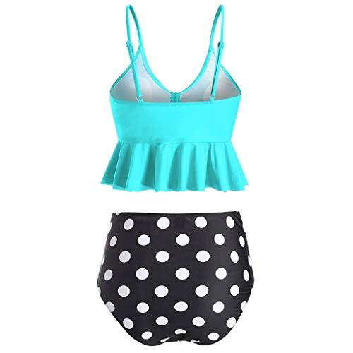 Bademode Front Zip One Piece Bademode für Frau Bikini Push up mit gepolsterten | Brasilianisch | Zweiteilige Anzüge | Strand | Sexy | Vintage | Größe: S ~ XL Badeanzug Swimsuit swimanzug Swimwear