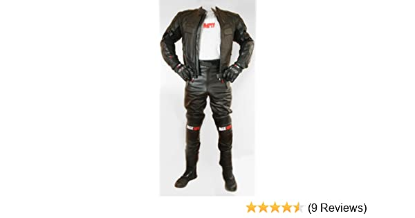 MENS MOTORCYCLE ARMORED MOTOR SPORTS HIGH PROTECTION BIKERS DISTRESSED SKIPPER JET BLACK//WHITE LEATHER JACKET DC-4033W L