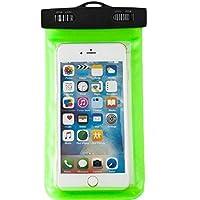 westeng Universal funda impermeable seco bolso de la bolsa bajo el agua para iPhone 6/6Plus/6S/5S/Android Teléfono Móvil ecológico polvo prueba Touch Responsive Funda, verde