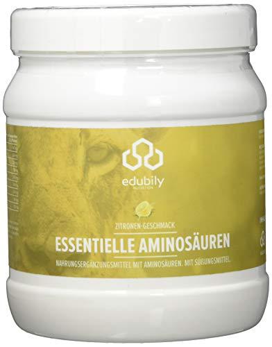 EAA Pulver vegan, 8 essentielle Aminosäuren, Leucin Isoleucin Valin Lysin Phenylalanin Threonin Methionin Tryptophan, leicht löslich, EAAs Aminosäuren, 500 g (Zitrone)