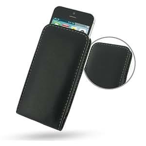 PDair Etui En Cuir De Protection Couverture Verticale Housse pour Apple iPhone 5 Noir
