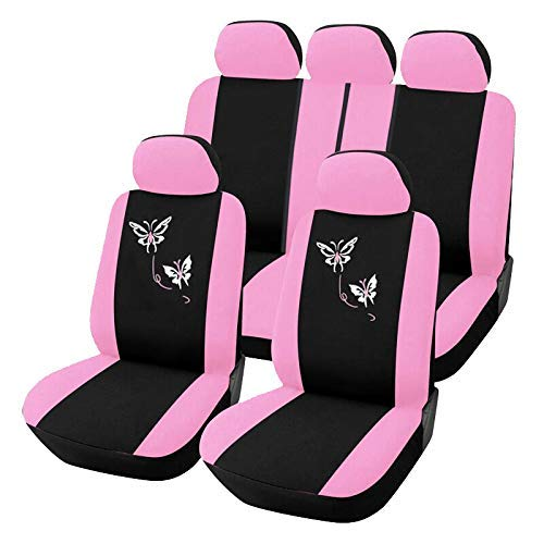 ZKORN Universal-Autositzbezüge Auto Interior Styling Woman Seat, Pink