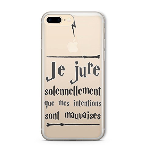 Personnage de film Harry Potter Citation de style CLEAR Flexible TPU Cover Case (Swear Quote) iPhone SE Qualité de protection mince Coque TRANSPARENT - Coque silicone souple au design original - coquille et pare-chocs d'une manière transparente et claire avec HD print - protège contre les rayures