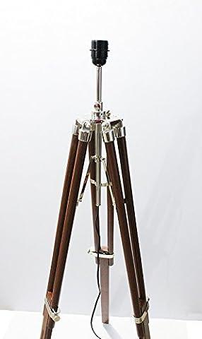 Amazing Design Nautical Trépied Support Chrome Finition Lighting Floor fabriqué à la main Dcor Brown Trépied by Collectibles buy