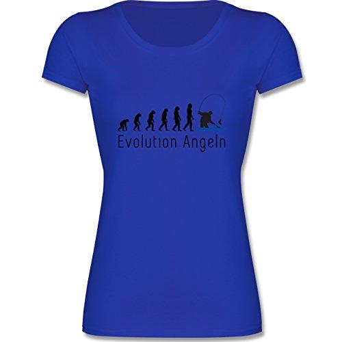 Evolution Kind - Angeln Evolution - 164 (14-15 Jahre) - Royalblau - F288K - Mädchen T-Shirt