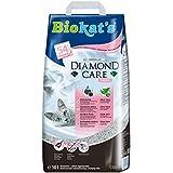 Biokat's Diamond Care Fresh Katzenstreu mit Duft, Hochwertige Klumpstreu für Katzen mit Aktivkohle und Aloe Vera