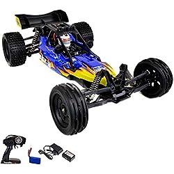 GoStock Ferngesteuertes Auto,1/12 Skala Hochgeschwindigkeit RC Auto,2WD 2.4Ghz Geländewagen Elektro Sport Rennwagen Funkgesteuertes Fahrzeug für Drinnen und draußen (1/16 Skala)
