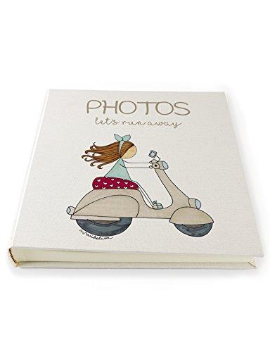 Album de fotos Niña Moto