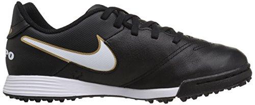 Nike Jungen Jr Tiempo Legend Vi Tf Fußballschuhe Schwarz (Schwarz/Weiß/Gold)