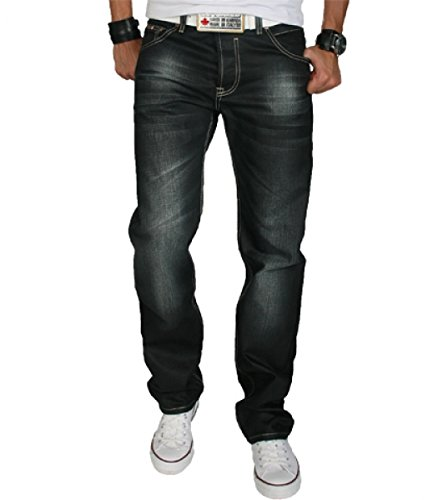 Rock Creek Herren Designer Jeans Wachsbeschichtung Coated Stonewash RC-2064 W40 L36
