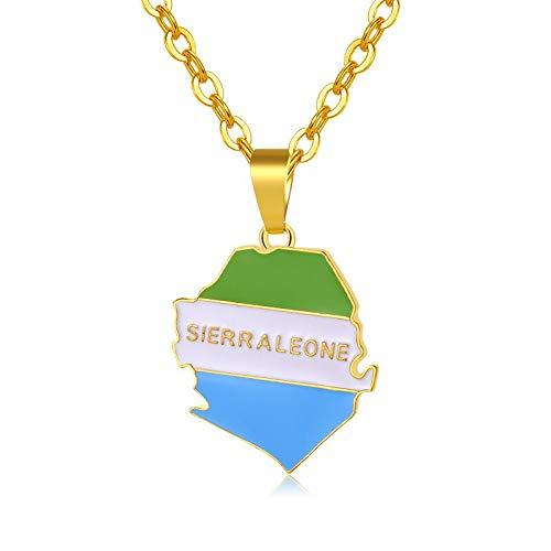 Gold Farbe Afrika Sierra Leone Karte &